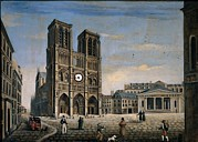 Holy Figures Prints - Villa Andrea, Notre-dame De Paris Print by Everett