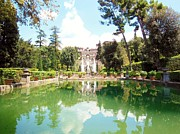 Villa Prints - Villa Este Reflections Print by Marilyn Dunlap