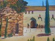 Villa Paintings - Villa in Umberia by Pamela  Meredith