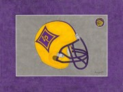 Villa Paintings - Villa Rica Wildcats Helmet by Herb Strobino