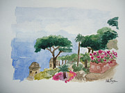 Villa Paintings - Villa Ruffalo by Helen J Pearson