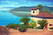 Villa Paintings - Villa Sur Le Golfe by Don Fexer