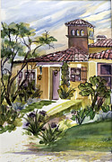 Villa Paintings - Villa Toscana by Francie Beaman