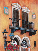 Iron Pastels Prints - Villa Wall Print by M Diane Bonaparte