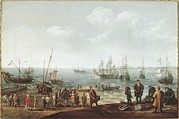 Technical Photo Prints - Villaerts, Adam 1577-1664. Seascape Print by Everett