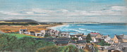 Village Pastels Prints - Village and Beach Print by Elke Wessel