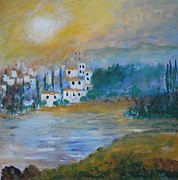 Lynne Bishop - Village by the Lake