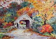 New England Village Prints - Village Entrance Print by Sherri Crabtree