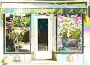 Storefront Art - Village Flower Shop  by Adspice Studios