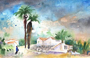 Lanzarote Paintings - Village in Lanzarote 04 by Miki De Goodaboom