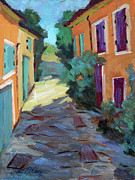 Wineries Painting Prints - Village In Provence Print by Diane McClary