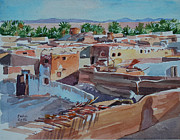 Mohamed Fadul Metal Prints - Village Metal Print by Mohamed Fadul