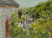 South Of France Paintings - Village of Beynac France by Sobeida Salomon