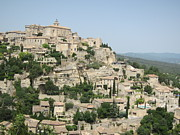 Provence Village Framed Prints - Village of Gordes Framed Print by Pema Hou