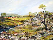 Village Of The Valley Print by Dorothy Maier