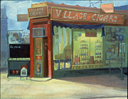 Store Fronts Paintings - Village Oracle by Richard Baumann