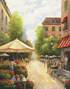 Zaccheo Metal Prints - Village Scene Metal Print by John Zaccheo