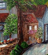 Flower Paintings - Village Shoppes by Eloise Schneider