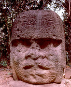 Olmec Framed Prints - Villahermosa - Olmec Head #2 Framed Print by Robert  Rodvik