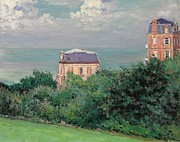 Breeze Framed Prints - Villas at Villers-sur-Mer Framed Print by Gustave Caillebotte