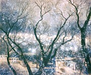 Winter Scene Pastels - Ville St. Pierre en Hiver by Rose Wark