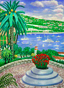 South Of France Paintings - Villefranche Sur Mer---cote-dazur by Ronald Haber