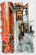 Vilnius Old Street Walk 2 Print by Yury Malkov
