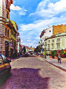 Old Town Digital Art Framed Prints - Vilnius Old Town 11 Framed Print by Yury Malkov