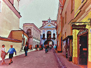 Lithuania Framed Prints - Vilnius Old Town 13 Framed Print by Yury Malkov