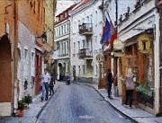 Vilnius Old Town 37 Print by Yury Malkov
