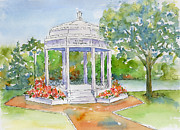 Bandstand Paintings - Vimy Memorial by Pat Katz