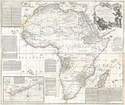 Vintage Map Photos - Vinatge Old World Map of Africa by Inspired Nature Photography By Shelley Myke