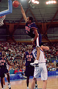 Dunk Photo Metal Prints - Vince Carter Best Slam Dunk EVER Metal Print by Sanely Great
