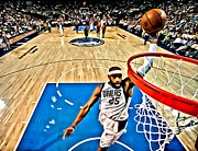 Dallas Mavs Prints - Vince Carter Dunking Print by Florian Rodarte