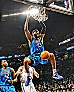 Dunking Photo Framed Prints - Vince Carter Framed Print by Florian Rodarte