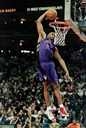 Dunk Photo Metal Prints - Vince Carter Slam Dunk Metal Print by Sanely Great