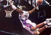 Dunk Photo Metal Prints - Vince Carter Superman Dunk Metal Print by Sanely Great