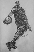 Vince Carter Drawings - Vince Carter - Toronto Raptors by Erik Axebrink