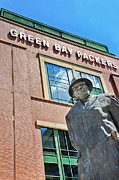 National Football League Prints - Vince Lombardi - Green Bay Packers-Lambeau Field Print by David Perry Lawrence