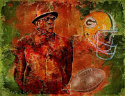 National Football League Digital Art Framed Prints - Vince Lombardi Framed Print by Jack Zulli