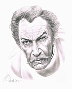 People Drawings Originals - Vincent Price by Murphy Elliott