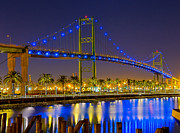 Terminal Photos - Vincent Thomas Bridge - Nightside by Jim Carrell