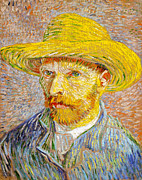 Straw Hat Digital Art - Vincent Van Gogh Self Portrait by Vincent Van Gogh