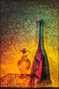Vinegar Digital Art Prints - Vinegar and Oil Print by Georgianne Giese