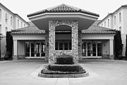 Santa Rosa Prints - Vineyard Creek Hyatt Hotel Santa Rosa California 5D25792 bw Print by Wingsdomain Art and Photography
