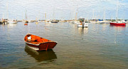 Cape Cod Mass Metal Prints - Vineyard Haven Harbor Metal Print by Michael Petrizzo