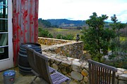 Wine Barrel Photo Originals - Vineyard Porch by Denny Brewer