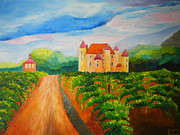 Grapevines Paintings - Vineyard - Second Edition by Louisa Bryant