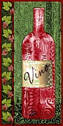 Vino Reds Print by Sharon Marcella Marston