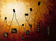 White Wine Paintings - Vins de France by Carmen Guedez